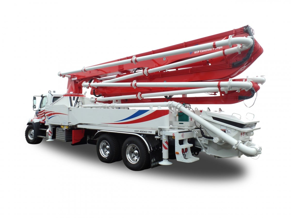 40m 5-section concrete pump