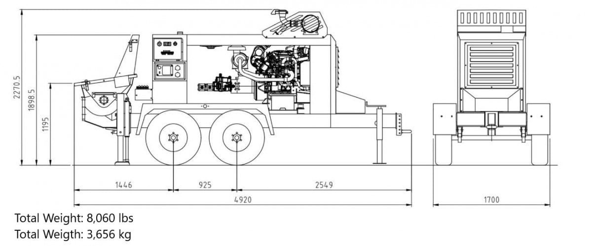 KTP 1160-8 trailer pump specs