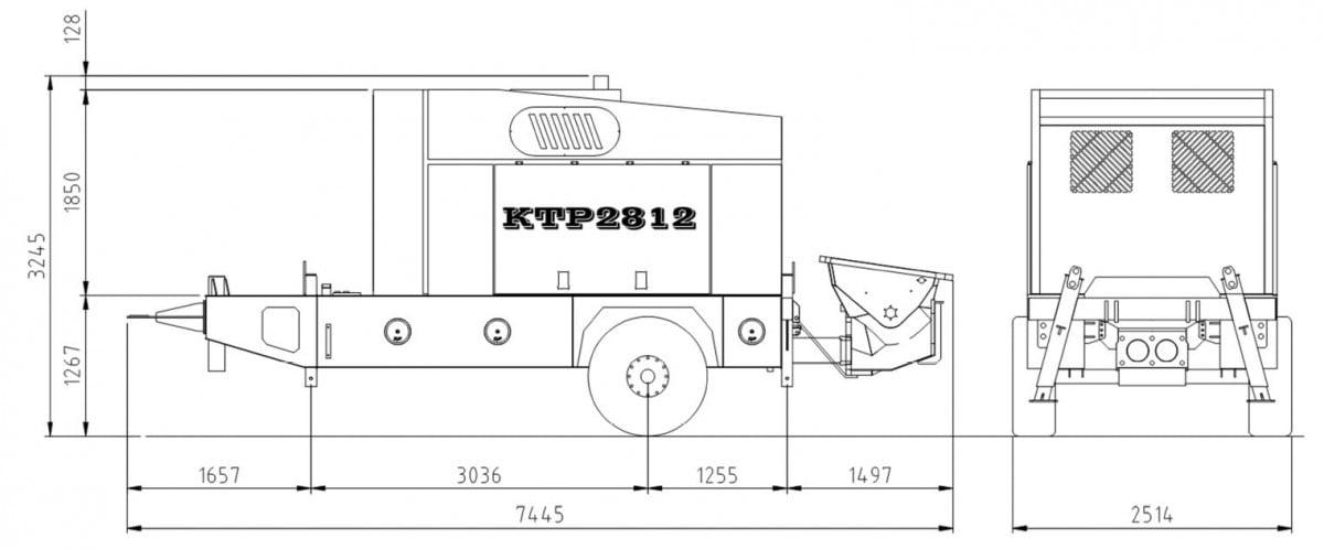 KTP 2812 stationary pump diagram