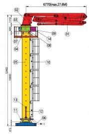 24m placing boom diagram