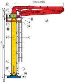 32m placing boom diagram